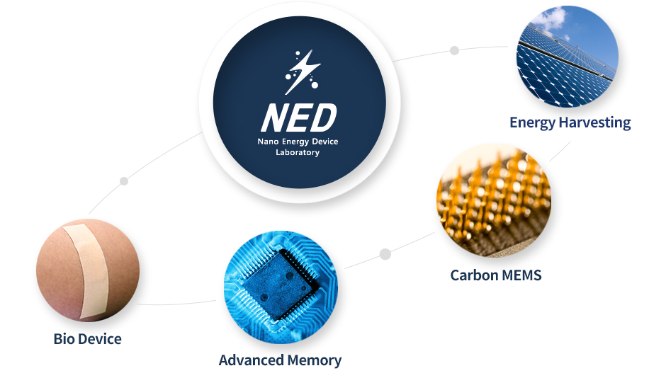 Energy Harvesting,Carbon MEMS,Advanced Memory,Bio Device